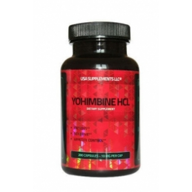 USA Supplements LLC- Yohimbine HCL 10 mg 200 kapsúl
