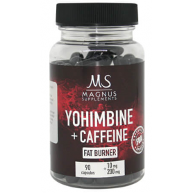 Magnus Supplements - 2ks Yohimbine Caffeine 90 kapsúl
