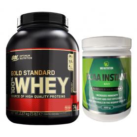 Optimum Nutrition - 100% Whey Gold Standard 2270g + Musclebody Nutrition - Bcaa Complex 4:1:1 400g